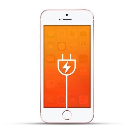 Apple Iphone SE Reparatur USB Dock / Ladebuchse weiss