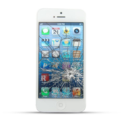 Apple iPhone 5 Reparatur LCD Display Touchscreen Glas Weiss