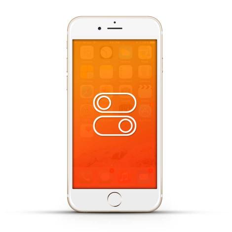 Apple iPhone 6 Reparatur Schalter White