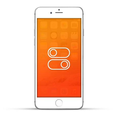 Apple iPhone 6s Plus Reparatur Laut- / Leise Schalter oder Ein- / Aus Schalter Weiss