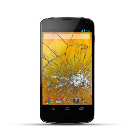 LG Google Nexus 4 Reparatur LCD Display Touchscreen Glas