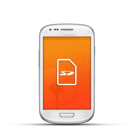 Samsung Galaxy S3 Mini Reparatur SD Kartenleser Weiss