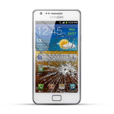 Samsung Galaxy S2 Reparatur LCD Dispay Touchscreen Glas Weiss