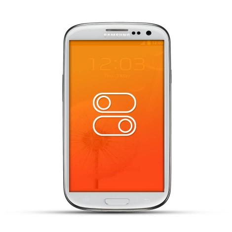 Samsung Galaxy S3 Reparatur Lautstärke Schalter White