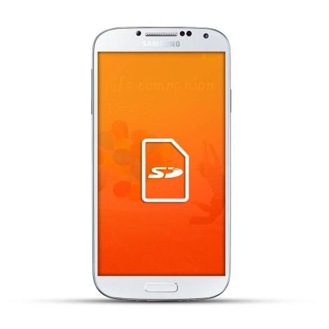 Samsung Galaxy S4 Mini Reparatur SD Kartenleser Weiss