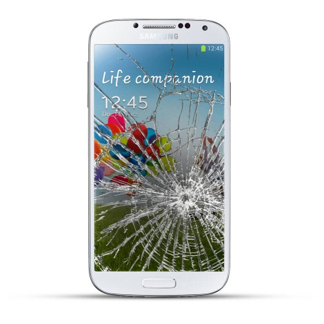 Samsung Galaxy S4 Reparatur LCD Dispay Touchscreen Glas Weiss