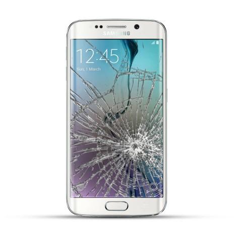 Samsung Galaxy S6 Edge Reparatur LCD Dispay Touchscreen Glas Weiss