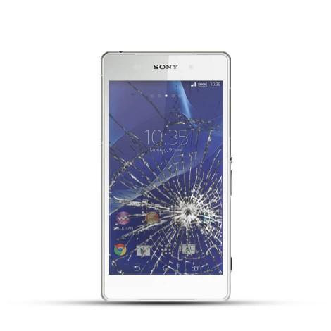 Sony Xperia Z1 Reparatur LCD Dispay Touchscreen Glas Weiss