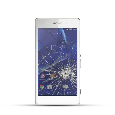 Sony Xperia Z2 Reparatur LCD Dispay Touchscreen Glas Weiss