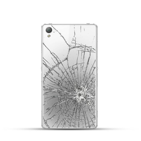 Sony Xperia Z3 Compact Reparatur Backcover Glas Weiss