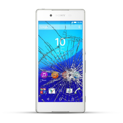 Sony Xperia Z4 Reparatur LCD Display Touchscreen Glas Weiss