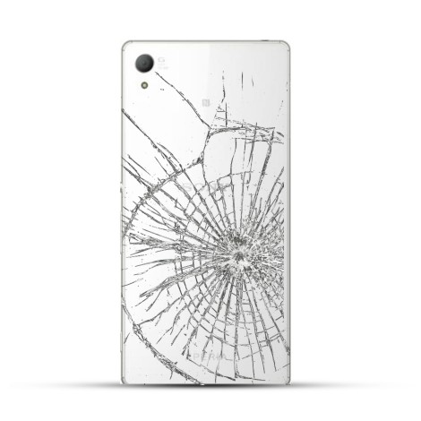 Sony Xperia Z5 Reparatur Backcover Glas Weiss