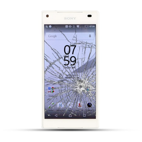 Sony Xperia Z5 Compact Reparatur LCD Display Touchscreen Glas  Weiss