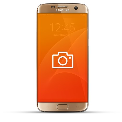 Samsung Galaxy S7 Edge Reparatur Kamera gold