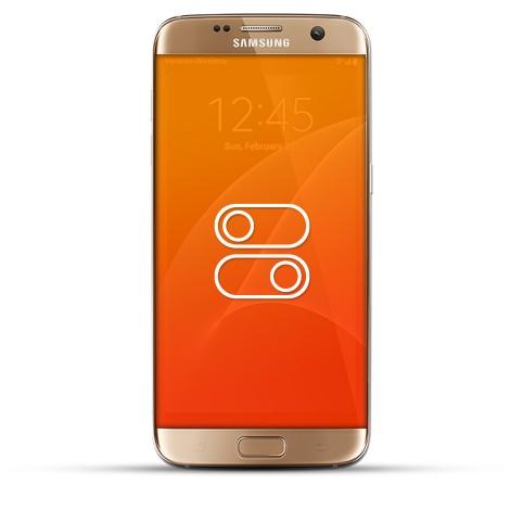 Samsung Galaxy S7 Edge Reparatur Schalter gold