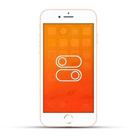 Apple iPhone 8 / 8 Plus Reparatur Laut- / Leise Schalter oder Ein- / Aus Schalter Weiss