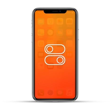 Apple iPhone XS / XS MAX Reparatur Laut- / Leise Schalter oder Ein- / Aus Schalter