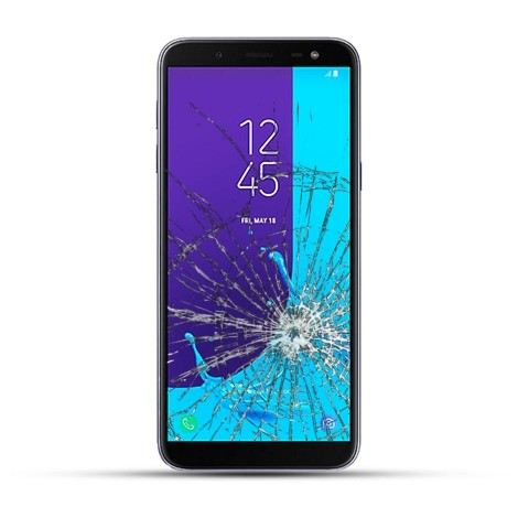 Samsung Galaxy J6 2018 Reparatur Display Touchscreen Glas schwarz