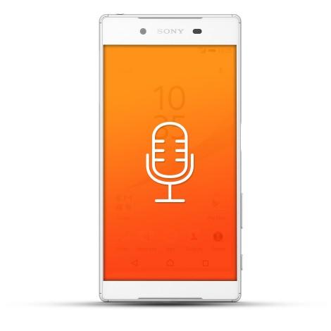 Sony Xperia Z5 Reparatur Mikrofon weiß