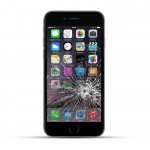 Apple iPhone 6 Reparatur LCD Display Touchscreen Glas Schwarz