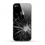 Apple iPhone 4 / 4s Reparatur Backcover Glas Schwarz