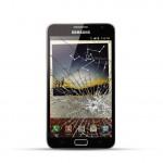 Samsung Note 1 (N7000) Reparatur LCD Dispay Touchscreen Glas Schwarz
