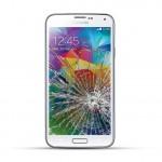 Samsung Galaxy S5 Reparatur LCD Dispay Touchscreen Glas inkl. Chromrahmen Weiss