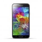 Samsung Galaxy S5 Reparatur LCD Dispay Touchscreen Glas inkl. Chromrahmen Schwarz