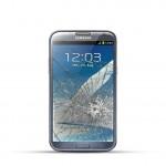 Samsung Note 2 (N7100) Reparatur LCD Dispay Touchscreen Glas Schwarz