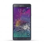 Samsung Note 4 (N910F) Reparatur LCD Dispay Touchscreen Glas Schwarz