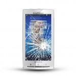 Sony Xperia X10 Reparatur LCD Dispay Touchscreen Glas White