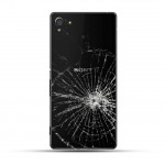 Sony Xperia Z4 Reparatur Backcover Glas Schwarz