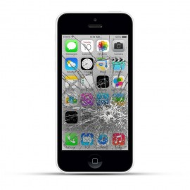 Apple iPhone 5c Reparatur LCD Display Touchscreen Glas White