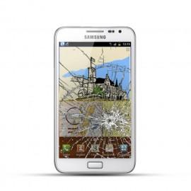 Samsung Note 1 (N7000) Reparatur LCD Dispay Touchscreen Glas Weiss