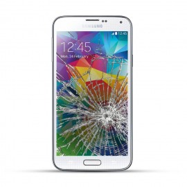 Samsung Galaxy S5 Reparatur LCD Dispay Touchscreen Glas Weiss
