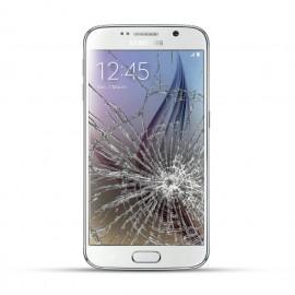Samsung Galaxy S6 Reparatur LCD Dispay Touchscreen Glas Weiss