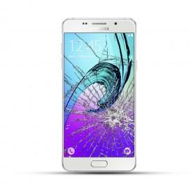 Samsung Galaxy A3 2016 Reparatur LCD Display Touchscreen Glas weiß