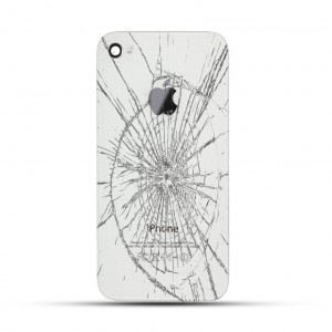 Apple iPhone 4 / 4s Reparatur Backcover Glas Weiss