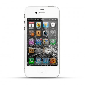 Apple iPhone 4 / 4s Reparatur LCD Display Touchscreen Glas Weiss