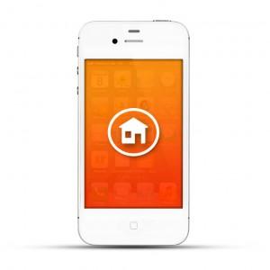 Apple iPhone 4 / 4s Reparatur Homebutton Weiss
