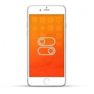 Apple iPhone 6 Plus Reparatur Schalter Weiss