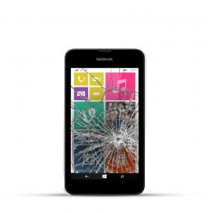 Nokia Lumia 530 Reparatur LCD Dispay Touchscreen Glas