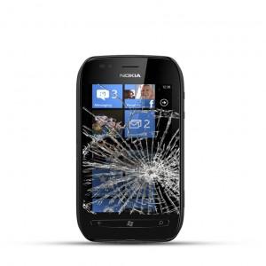Nokia Lumia 710 Reparatur LCD Dispay Touchscreen Glas