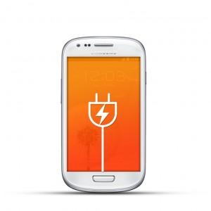 Samsung Galaxy S3 Mini Reparatur USB Dock Weiss