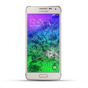Samsung Galaxy Alpha G850F Reparatur Display Touchscreen Glas Weiss