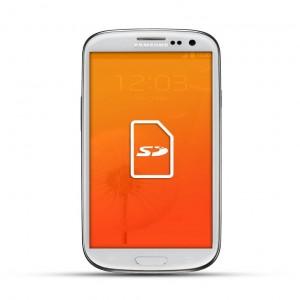 Samsung Galaxy S3 Reparatur SD Kartenleser White