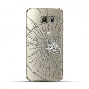 Samsung Galaxy S6 Edge Reparatur Backcover Weiss