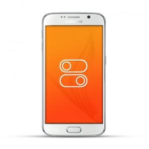 Samsung Galaxy S6 Reparatur Schalter Weiss