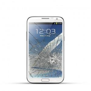 Samsung Note 2 (N7100) Reparatur LCD Dispay Touchscreen Glas Weiss