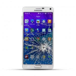 Samsung Note 4 (N910F) Reparatur LCD Dispay Touchscreen Glas Weiss